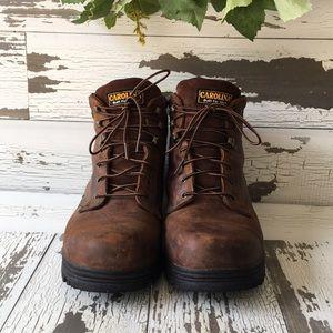 Carolina brown waterproof work boot